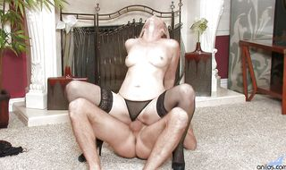 Voluptuous Annabelle Brady is sucking a huge tool and riding it like a star