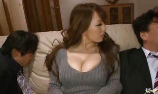 Mischievous mature girlfriend Hitomi Tanaka receives a firm plowing