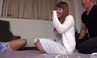Sex appeal busty girl Rion Nishikawa took hunk's shaft deep down her throat and sucked it very good