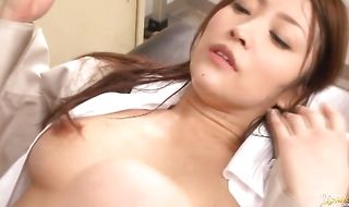 Seductive hottie Kokomi Sakura knows how to suck pecker and make fellow moan and sigh from pleasure
